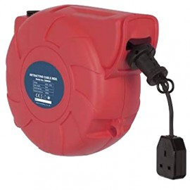 Wall Mountable, Self Retracting 230v Extension Cable Reel