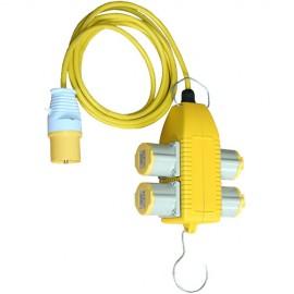 110v 4 Way Power Socket 5m