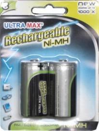 Rechargeable Battery/Batteries  C  (2)