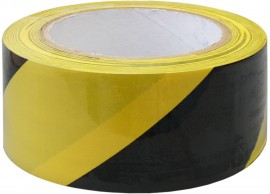 Adhesive Hazard Warning Tape - Yellow/Black