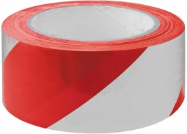 Adhesive Hazard Warning Tape - Red/White